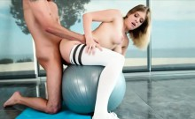 Sexy teen babe Giselle Palmer fucked by massive hard cock