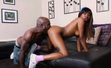 Ebony whore receives a hardcore anal pounding
