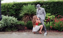 Seductive big tits babe Alessandra Jane pounded at the park