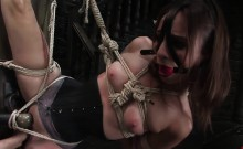 Amber Rayne enjoys some BDSM pleasures