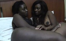 Sexy African Lesbians Lick And Finger Their Pussies In