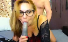 Nerdy Babe In Massive Blowjob And Hard Fucking Action
