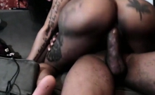 Ebony wife fucked then cumshot on cam