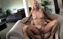 Pussy Pierced Mom Blows And Fucks Cock
