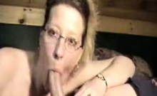Nerdy matured woman rocks cocks