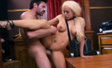 Busty Luna Star banged in her office