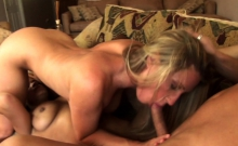 Blowjob in amateur reality home video