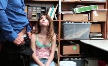 Redhead teen got fucked because she helped a dad thief