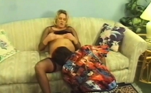 Mature Pregnant Turns Cowgirl Trick