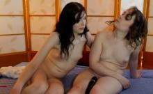 Lesbian russian teen show their masturbation