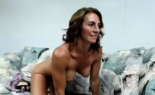 Mature with big boobs sucking small dick