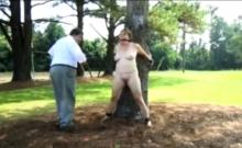 Public punishment in a park