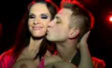 Hot night club turns into a real sex orgy with slutty honeys