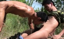 Asian Twinks Threesome And Cumshot
