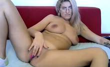 Chubby milf strip show her big boobs webcam