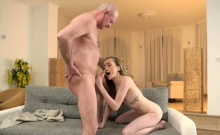 German old lady and daddy fucks companion' ally's step daugh