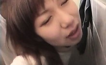 Asian sex in public toilet with teen redhead fuck doll