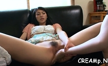 Adorable Oriental Babe Behaves Like Whore