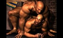 3d Straight Dudes Take It Hard!
