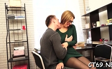 Pretty Russian Redhead Woman Iva Zan's Cuch In Sex Action