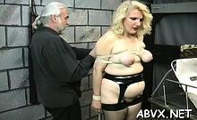 Nude Woman Flogging Clip With Bondage
