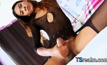 Pretty Asian Shemale Nan A Masturbates