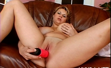 Hot Blonde Maid Veronika With Great Tits Enjoys Every Bit