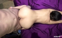 German Young Couple in Amateur Porn with Real Female Orgasm