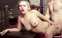 GERMAN PETITE TEEN LENA IN REAL FIRST TIME GANGBANG FUCK