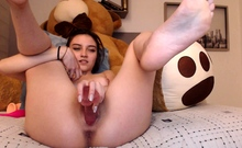 Sexy teen Georgia jones hot solo masturbation action