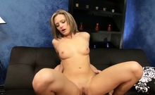 College Girl Cheyenne at First Porn Casting with Huge Cock