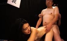 Hairy asian group orgy