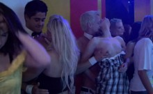 Gangbang wild patty at night club